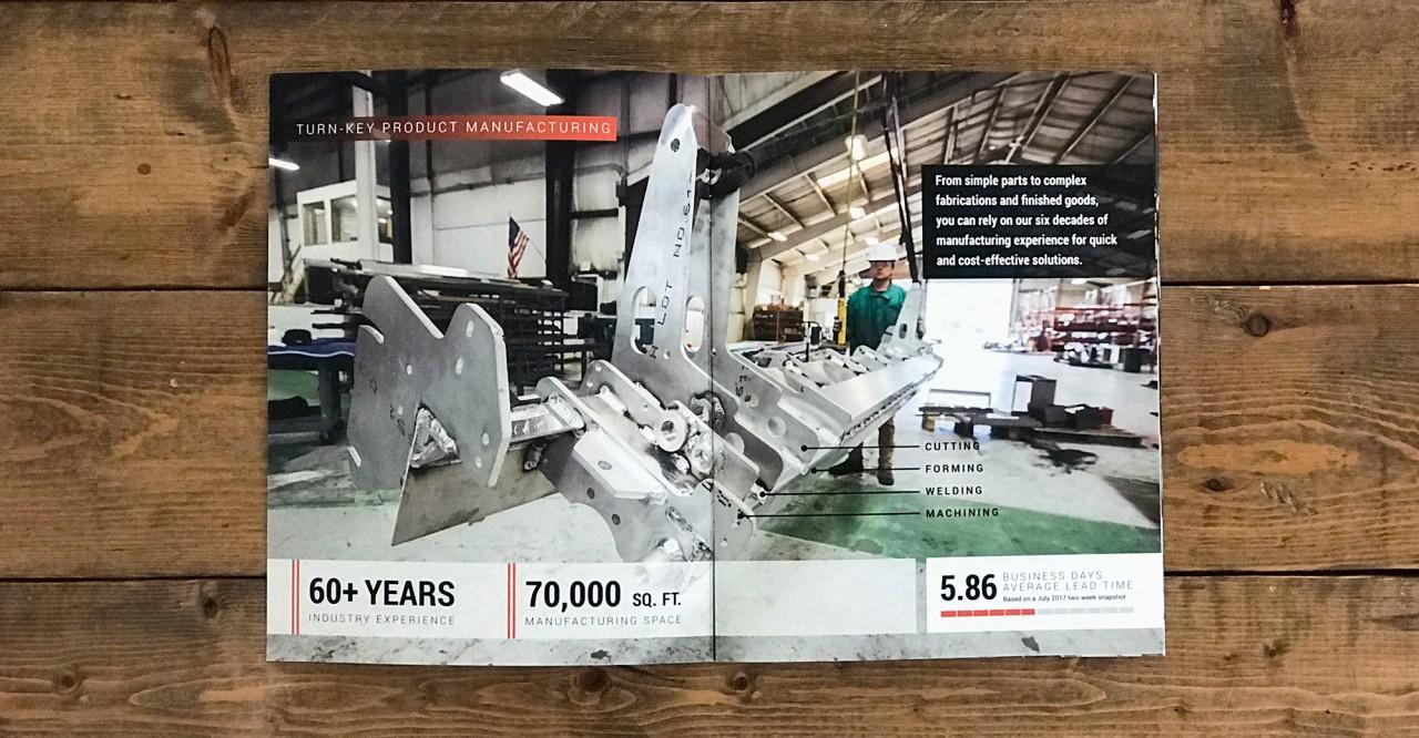 laser cutting brochure design