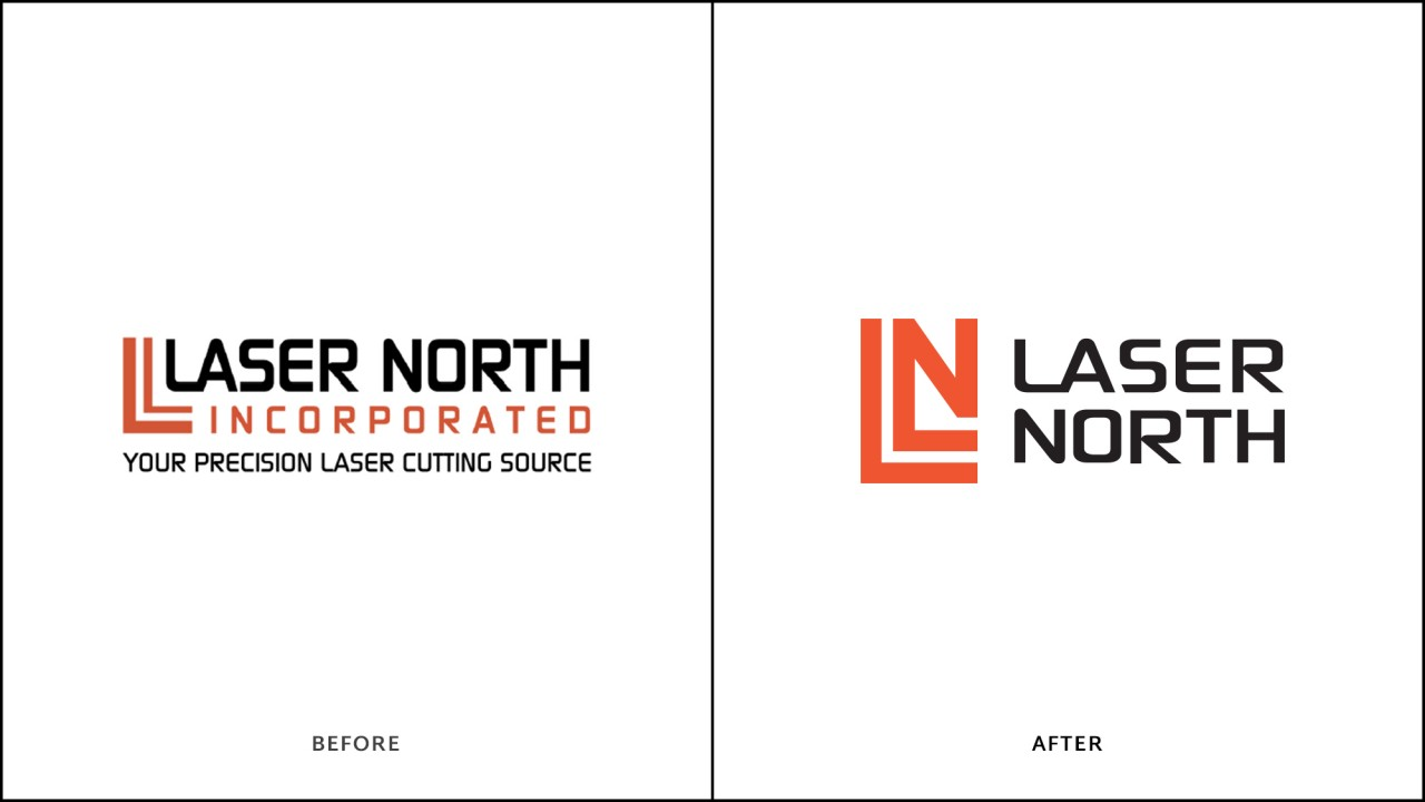 monte logo design before after