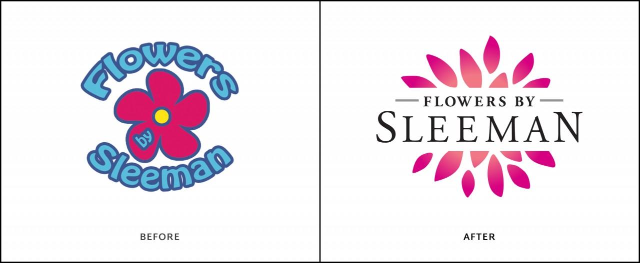 monte logo design before after