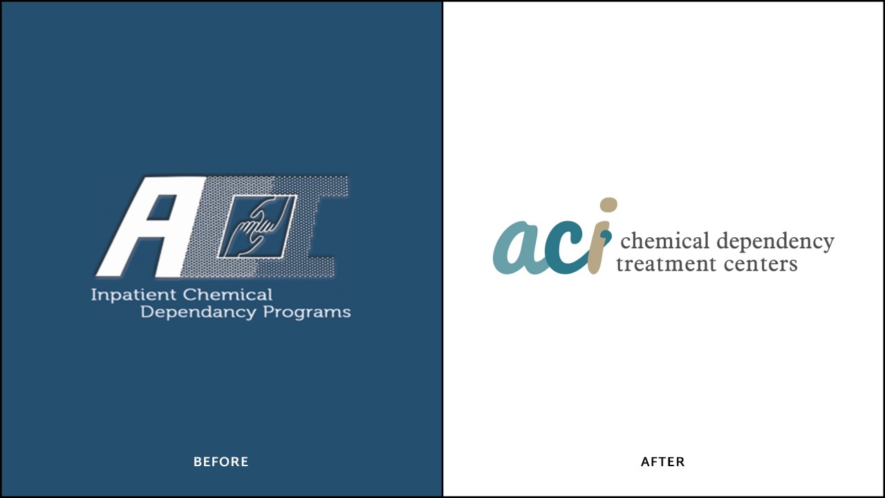 logo redesign before after