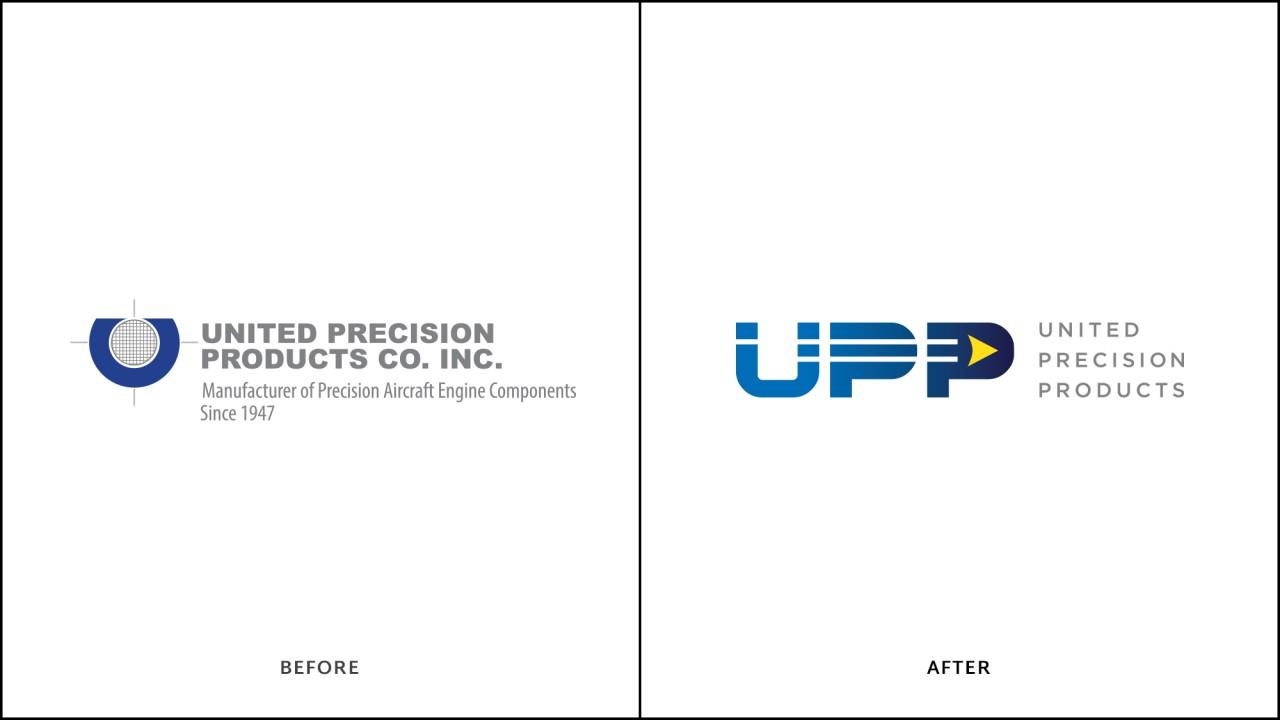 monte logo design before after aerospace UPP