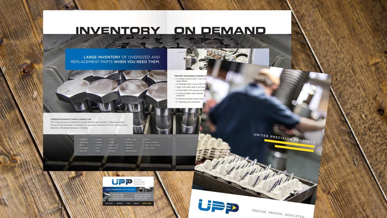 monte logo design branded brochure business card