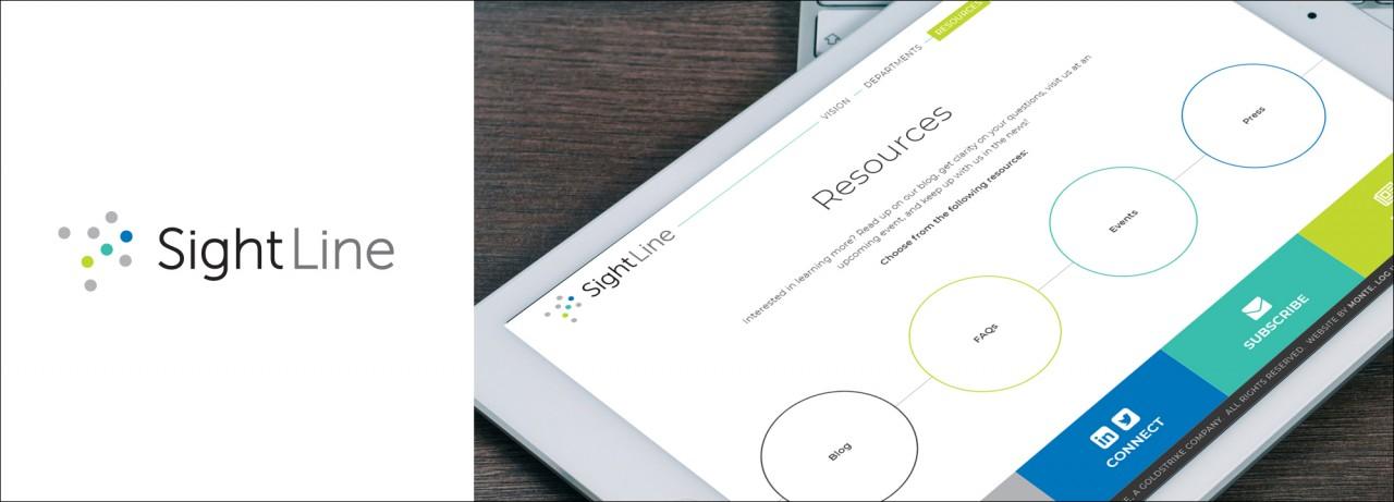 monte logo responsive website design