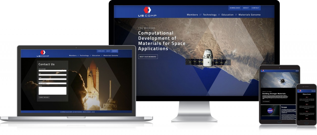 monte logo website design responsive mobile friendly aerospace