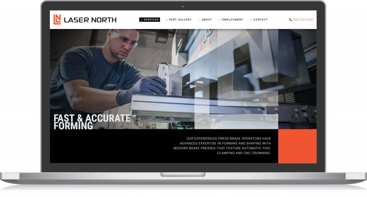 manufacturing photography website design