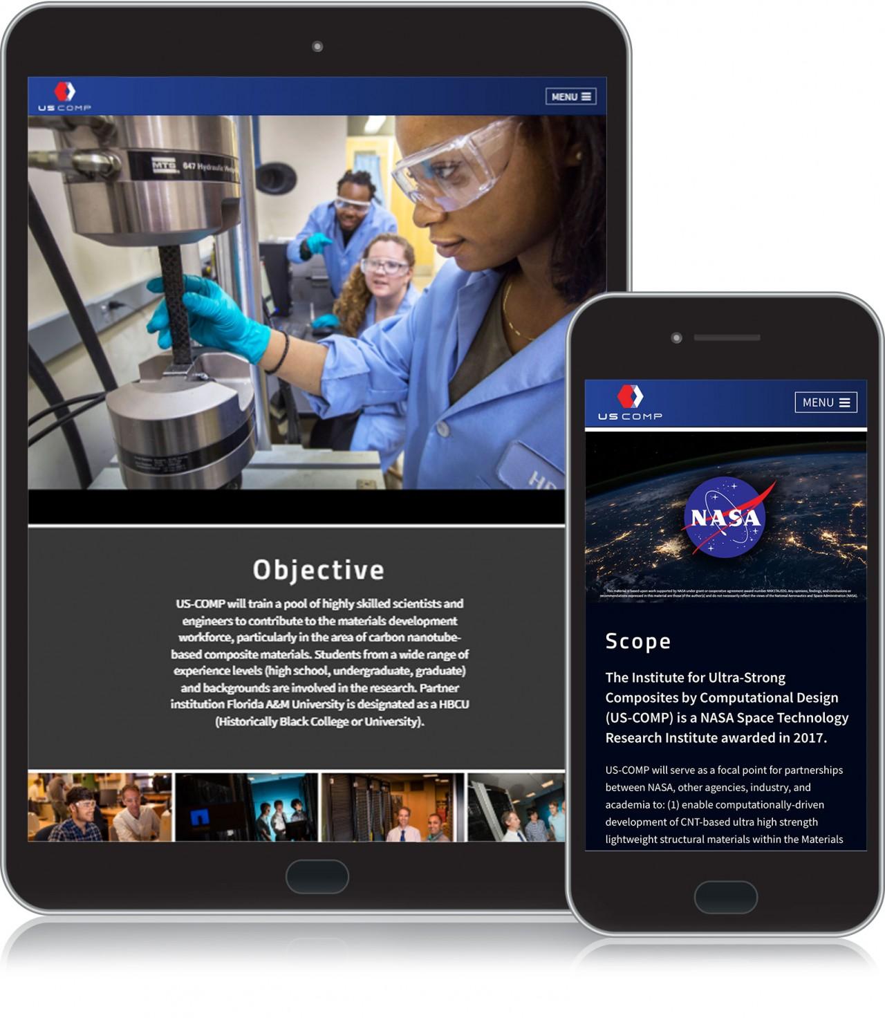 monte tablet mobile friendly website design