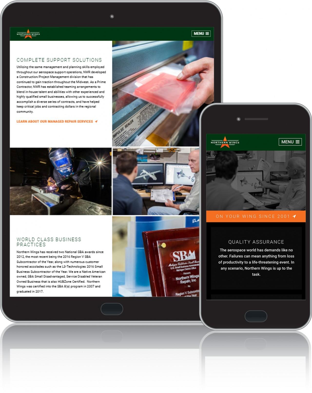 aerospace website design development