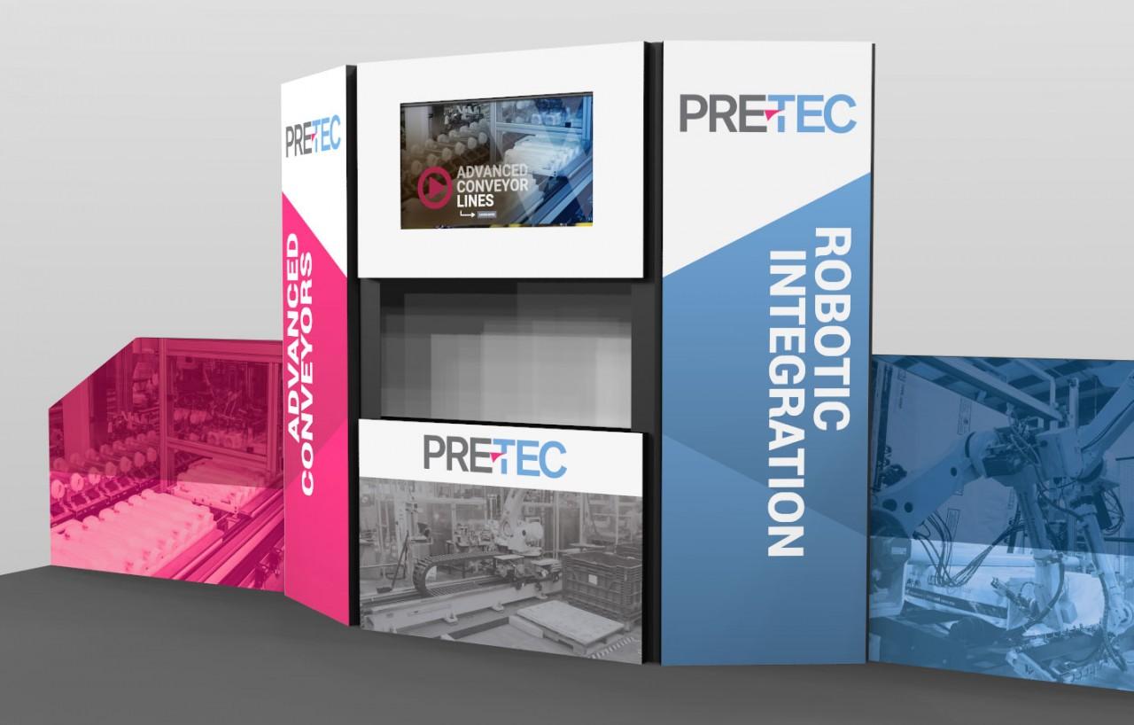 monte tradeshow booth graphic design
