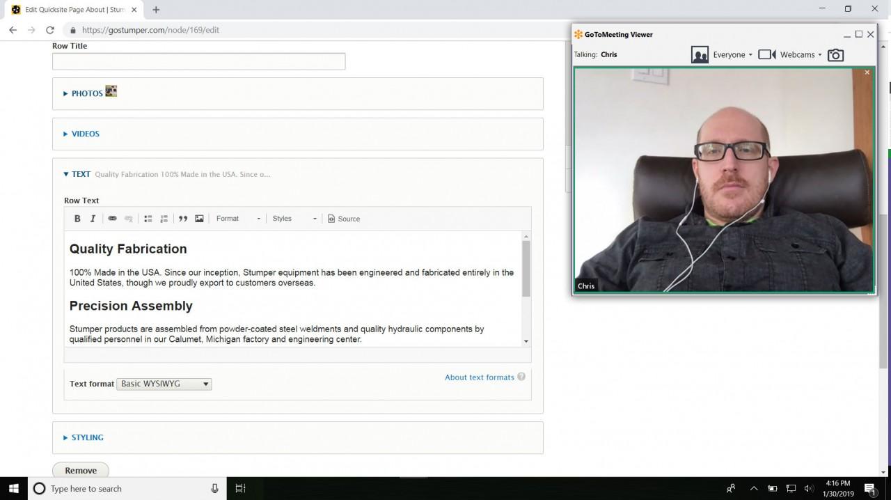 monte user training content management web app