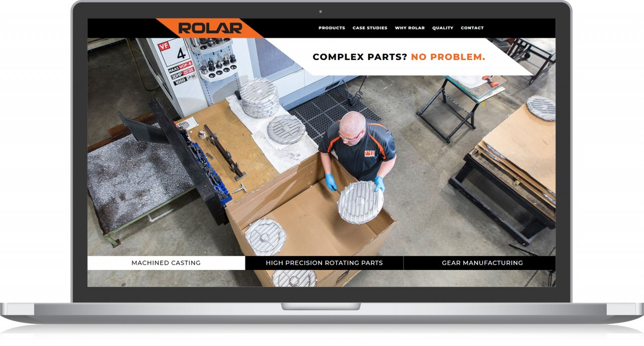 website design after rolar products