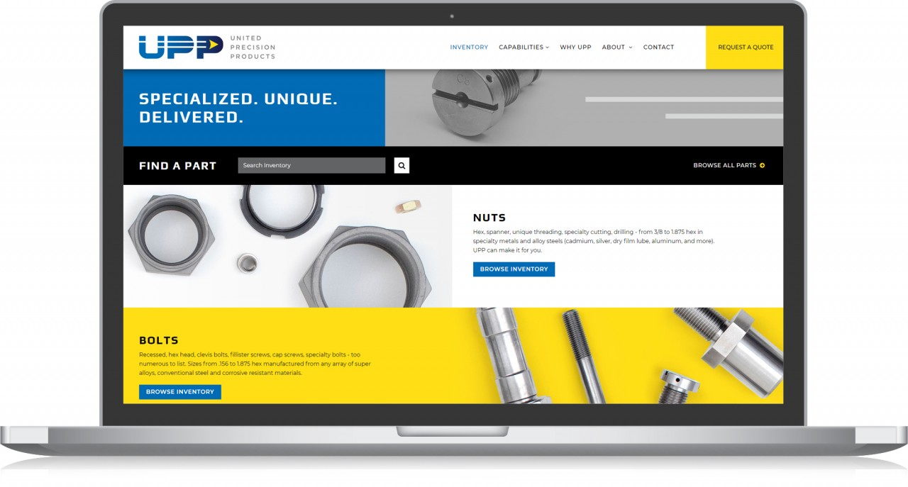 monte website design development aerospace parts