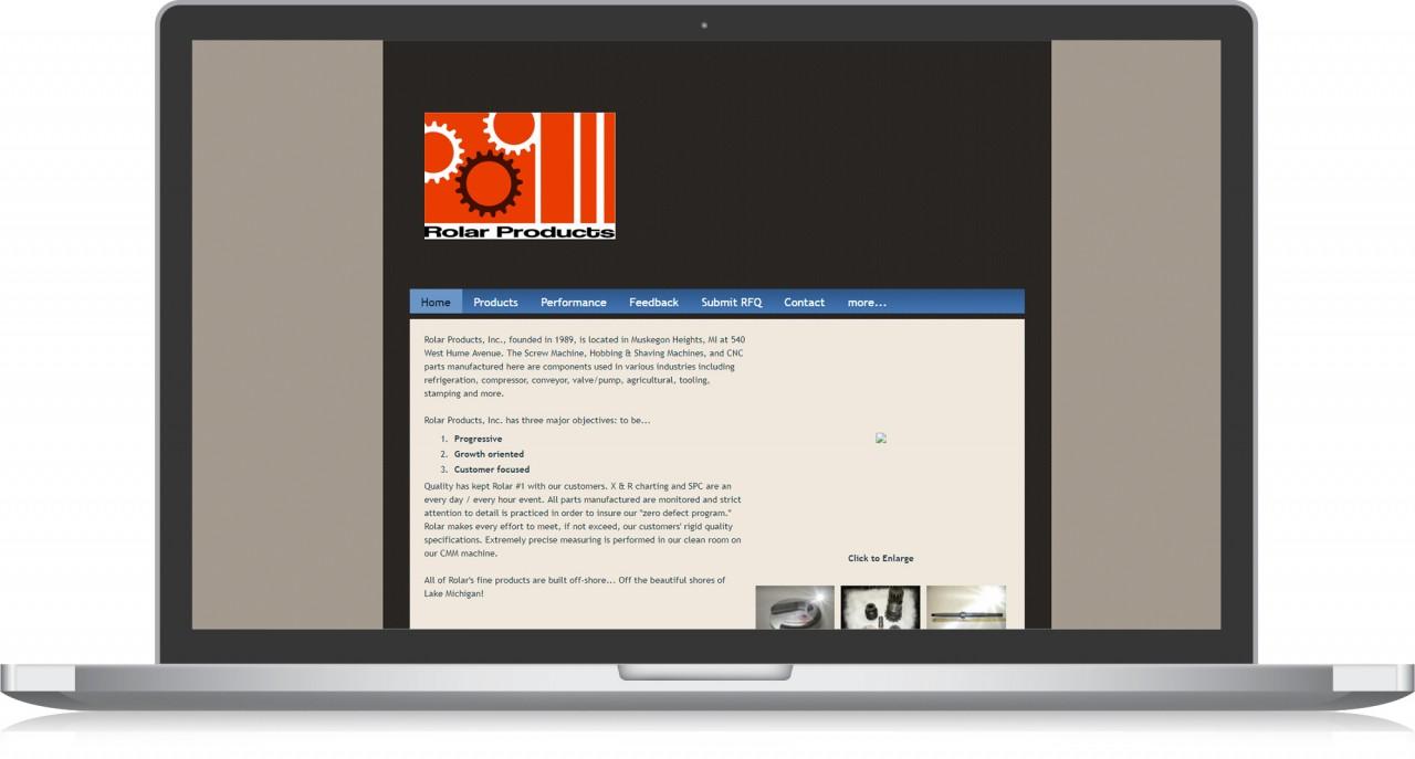 website design before manufacturing