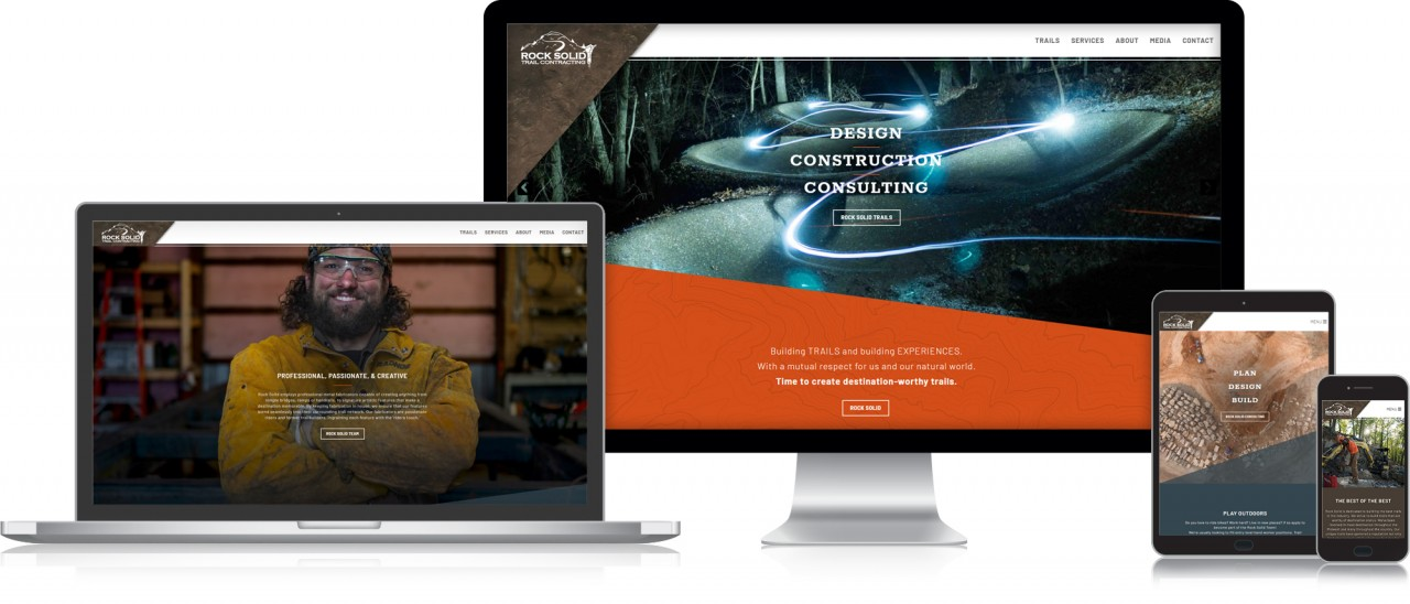 rock solid responsive bike trails website