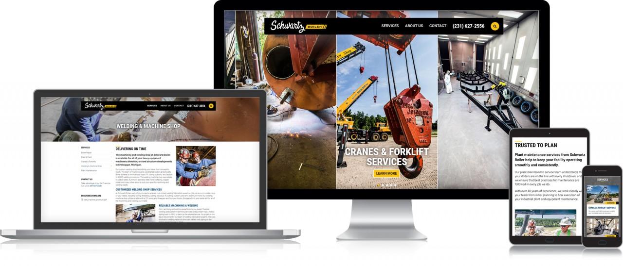 industrial website design development