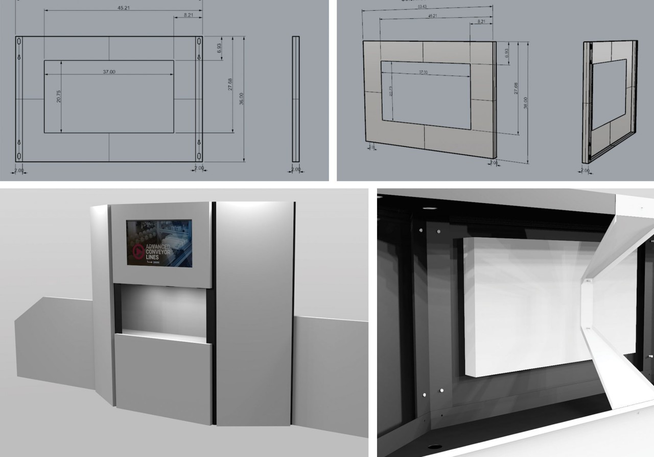 tradeshow CAD drawings 3D models