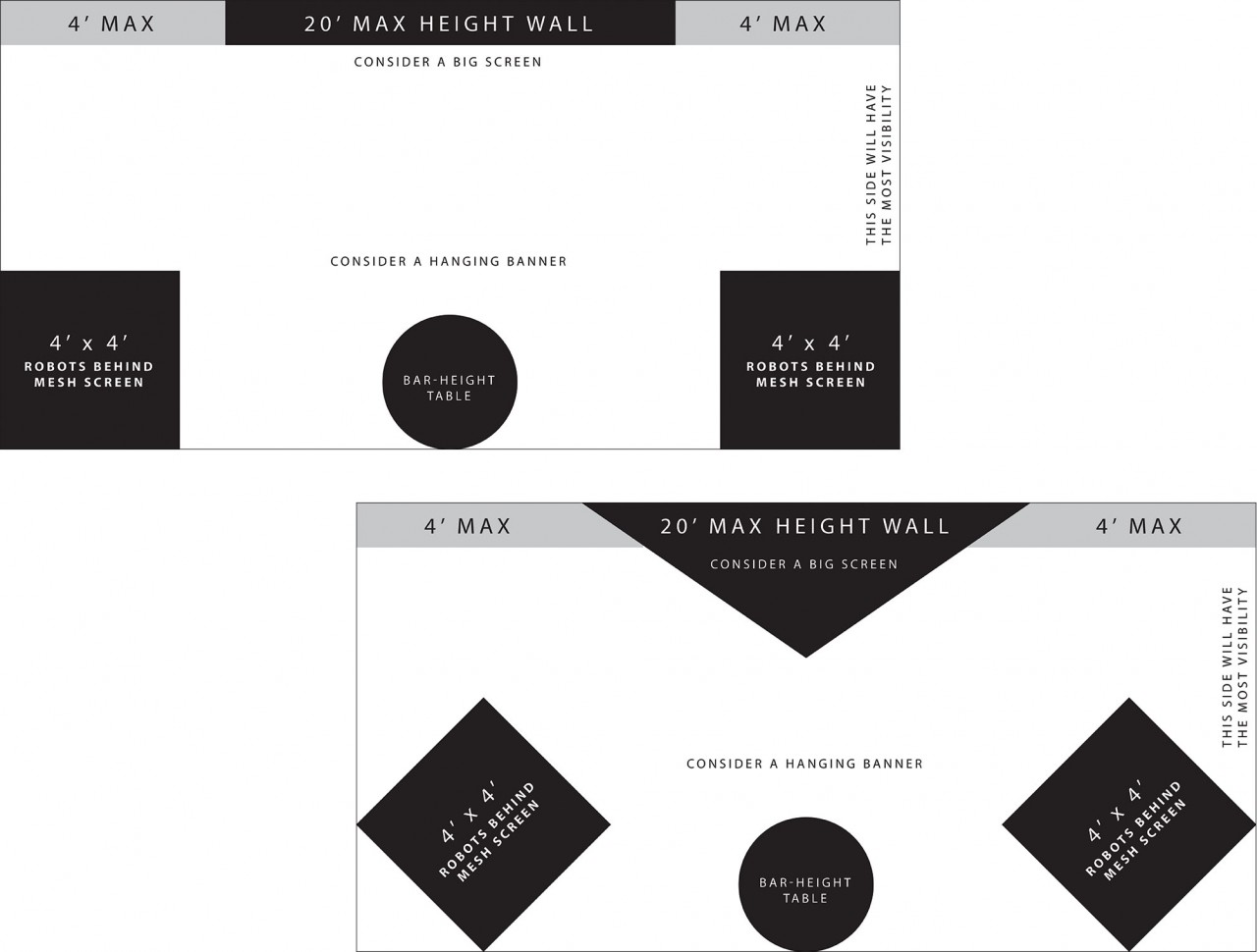 tradeshow booth layout planning