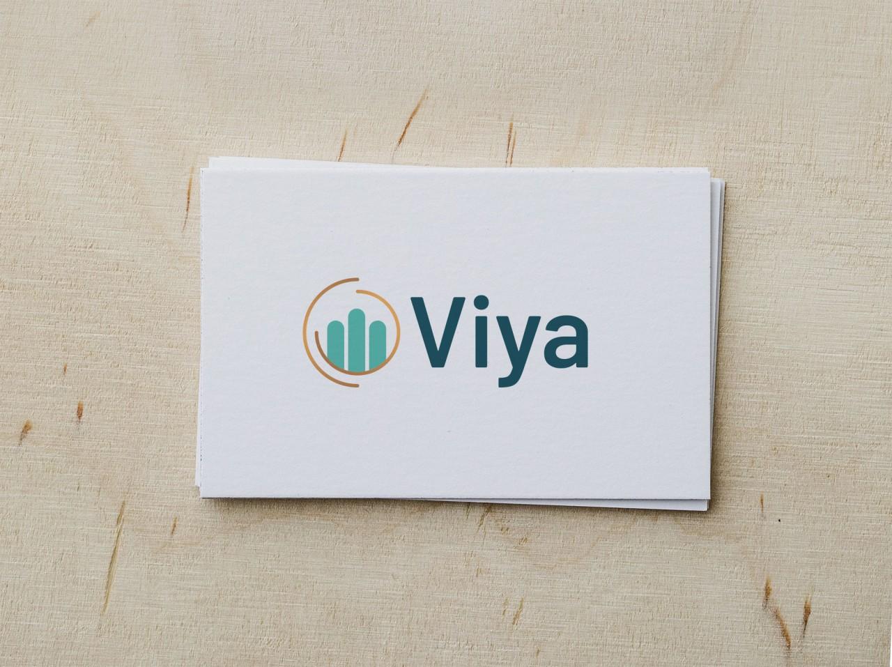 viya logo design on a card