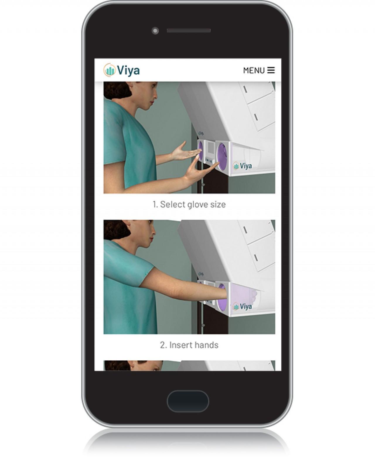 viya step by step instructions on phone