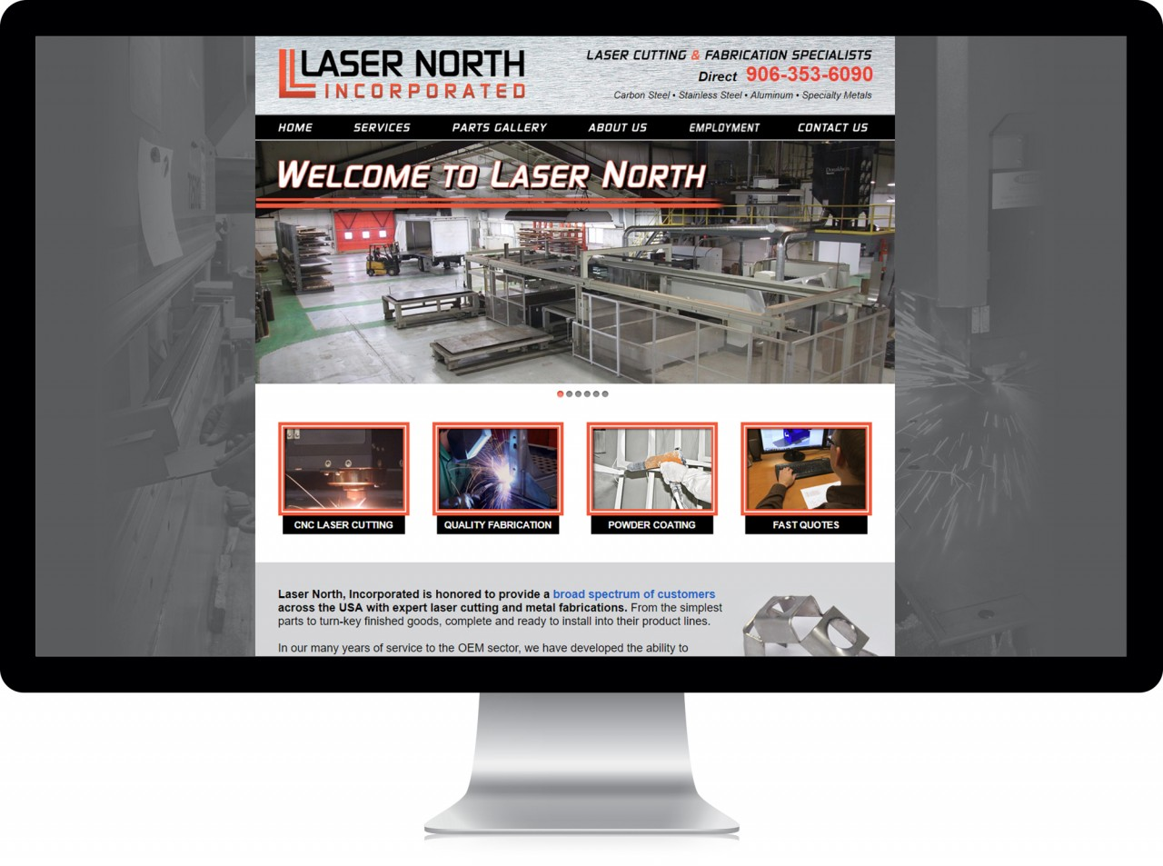 website design laser cutting