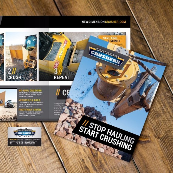 Mobile Rock Crusher Branding  design