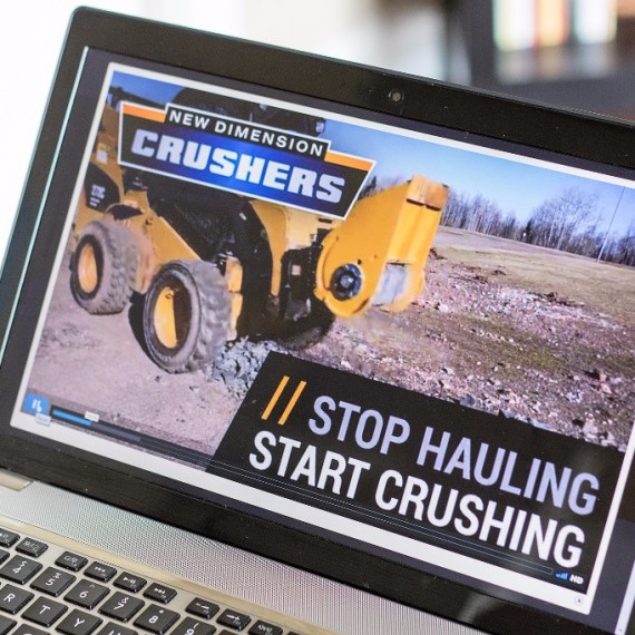 Mobile Rock Crusher Branding  video